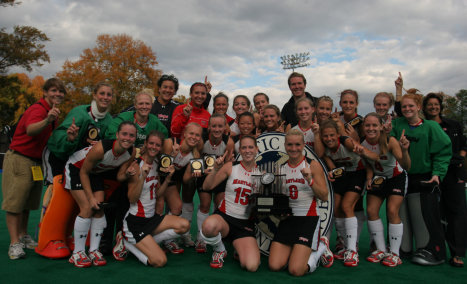 Maryland field hockey celebrates its ACC Championship.