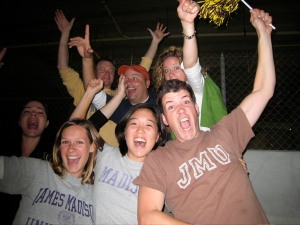 JMU fans party on my face as the Dukes take a 4th quarter lead.